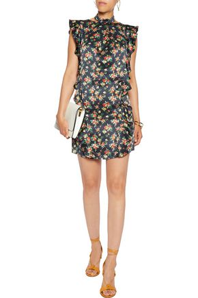 MARISSA WEBB Kera ruffled printed silk mini dress
