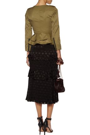 MARISSA WEBB Shane asymmetric twill peplum jacket