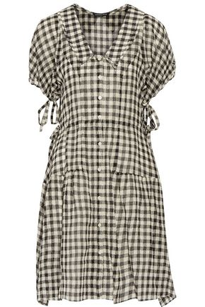 MARISSA WEBB Clarice gingham wool-broadcloth dress
