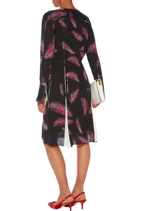 EMILIO PUCCI Pintucked printed stretch-silk dress