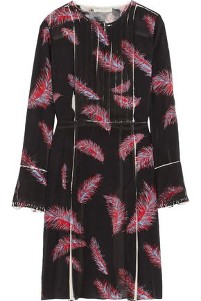 EMILIO PUCCI Pintucked silk-blend chiffon dress