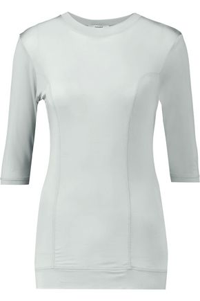 GANNI Stretch-jersey top