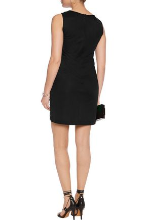 DIANE VON FURSTENBERG Sequin-embellished crepe mini dress