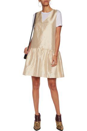 GANNI Slub silk mini dress