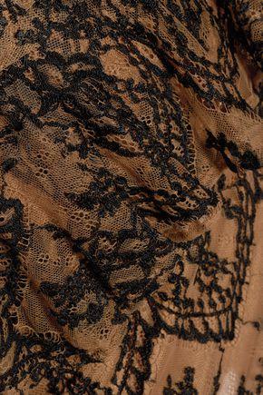 GANNI Lace peplum mini dress
