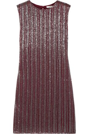 GANNI Humphrey beaded georgette mini dress