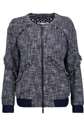 DIANE VON FURSTENBERG Braelyn fringed cotton-blend bouclé-tweed jacket