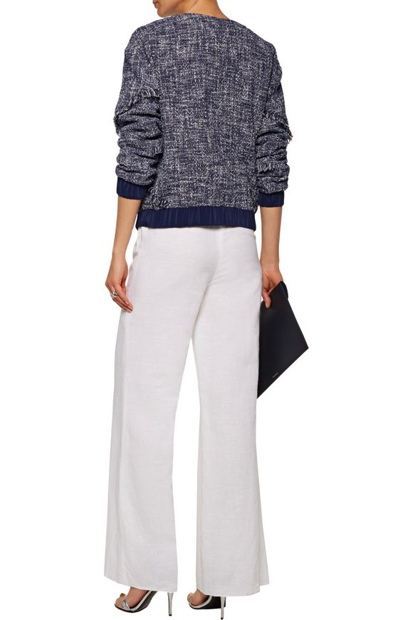 Braelyn fringed cotton-blend bouclé-tweed jacket | DIANE VON FURSTENBERG |  Sale up to 70% off | THE OUTNET