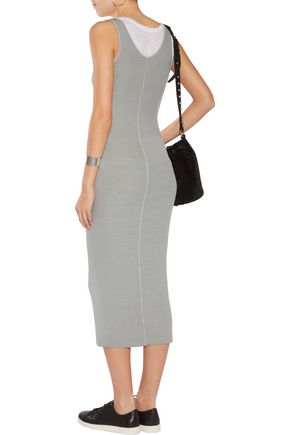 ENZA COSTA Ribbed-knit jersey midi dress