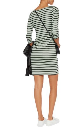 GANNI Striped cotton mini dress