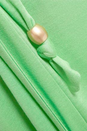 MELISSA ODABASH Zoe wrap-effect stretch-modal maxi dress
