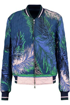 EMILIO PUCCI Quilted printed silk bomber jacket