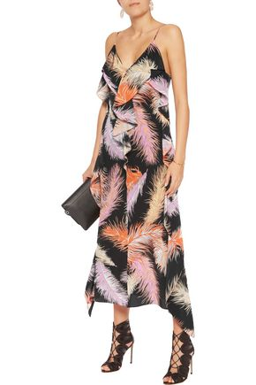 EMILIO PUCCI Ruffled printed silk-crepe maxi dress