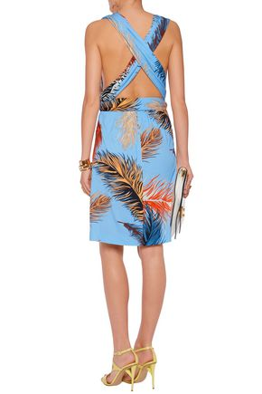 EMILIO PUCCI Printed stretch-jersey halterneck dress