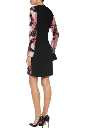 EMILIO PUCCI Paneled macramé lace dress