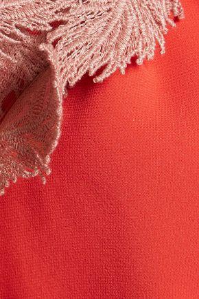 EMILIO PUCCI Embroidered crepe dress