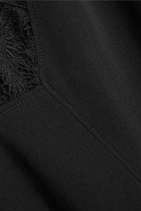 EMILIO PUCCI Lace-paneled crepe mini dress