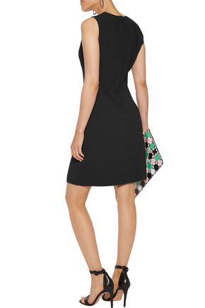 EMILIO PUCCI Lace-paneled crepe mini dress