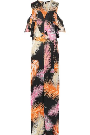 EMILIO PUCCI Cold-shoulder ruffled jersey maxi dress