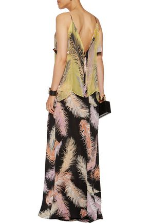 EMILIO PUCCI Layered printed silk maxi dress