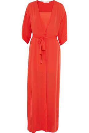 HALSTON HERITAGE Crepe de chine gown