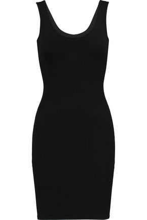 ENZA COSTA Ribbed jersey mini dress