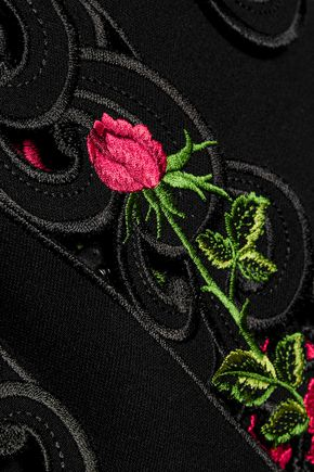 DOLCE & GABBANA Embroidered wool-blend jacket