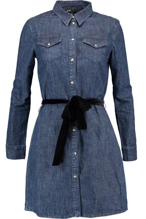 MAJE Belted denim dress