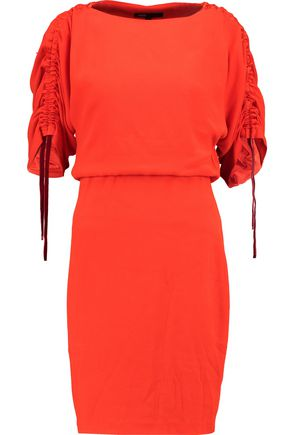 MAJE Ruched crepe mini dress