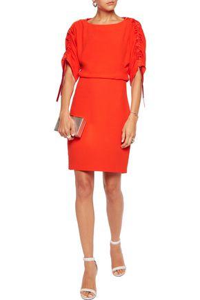 MAJE Ruched crepe mini dress
