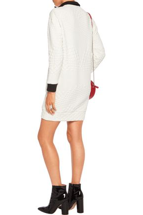 MAJE Quilted jersey mini dress