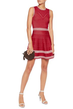 MAJE Jacquard-knit dress