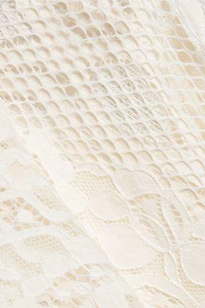 MAJE Corded lace mini dress