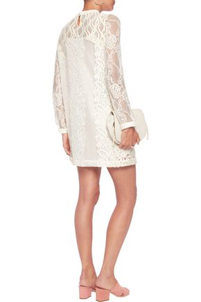 MAJE Corded lace mini dress