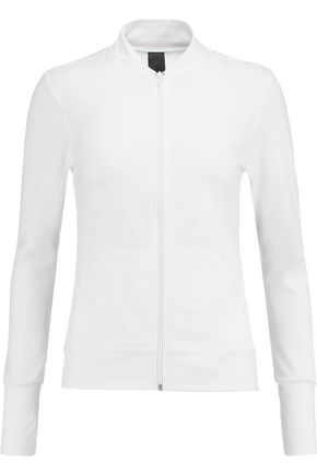NORMA KAMALI Mesh-paneled stretch-jersey jacket