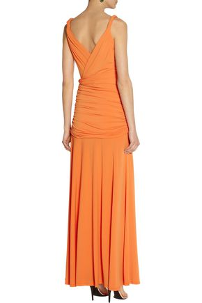 HALSTON HERITAGE Stretch-jersey gown