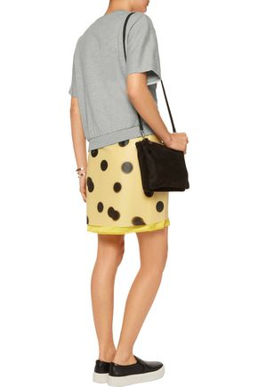 MARC BY MARC JACOBS Paneled cotton-jersey and printed faux leather mini dress
