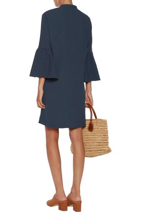 M.I.H JEANS Beck crinkled cotton mini shirt dress