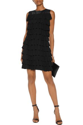 NORMA KAMALI Tiered ruffled stretch-jersey mini dress