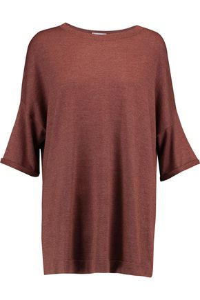 BRUNELLO CUCINELLI Oversized metallic cashmere-blend top