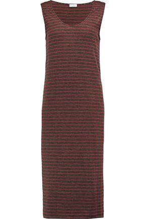 BRUNELLO CUCINELLI Striped wool-blend jersey dress