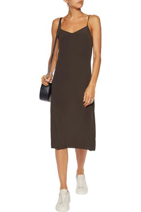 BRUNELLO CUCINELLI Striped wool-blend jersey dress