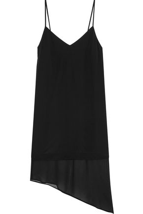 SPLENDID Asymmetric silk-crepe dress
