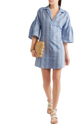 SPLENDID Dolman cotton-jacquard mini dress