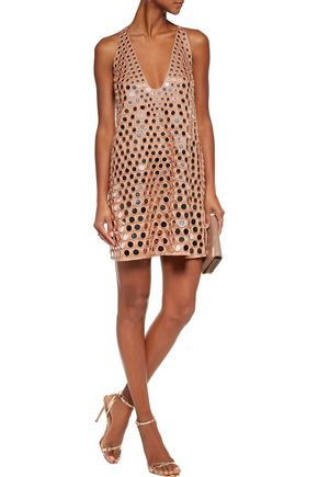 ZIMMERMANN Lavish Mirror embellished satin mini dress