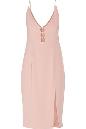 ZIMMERMANN Embellished cutout crepe midi dress