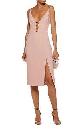 ZIMMERMANN Embellished cutout crepe midi dress