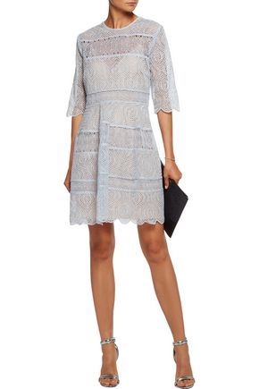 ZIMMERMANN Adorn open-knit trimmed broderie anglaise mini dress