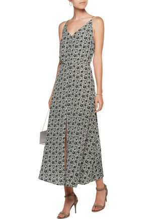 ZIMMERMANN Gathered silk-crepe midi dress