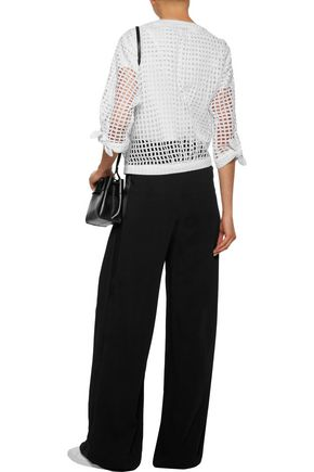 MILLY Laura broderie anglaise cotton top